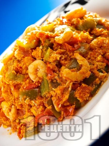Тунизийска салата със скариди - снимка на рецептата